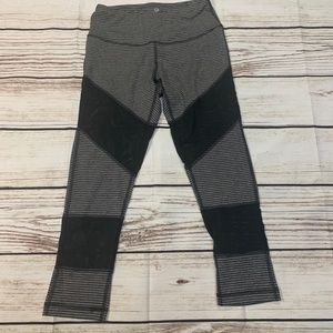 90 Degrees Black And Gray Leggings Size Small